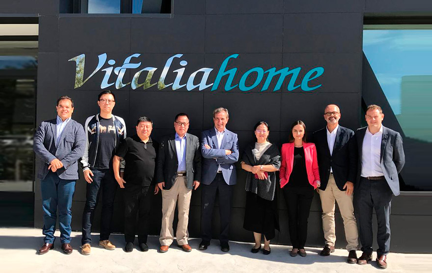 Visita de una delegación china a Vitalia Home